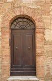Stary drzwi, Tuscany, Włochy Fotografia Stock