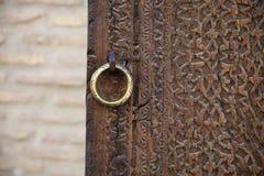 Stary drzwi w Bukhara, Uzbekistan Obraz Royalty Free