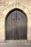 Stary drzwi w mieście Paralimni Obraz Stock
