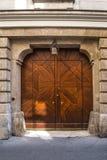Stary drzwi w Wiedeń Austria Wrzesień 2017 Fotografia Stock