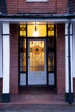Stary drzwi w Zjednoczone Królestwo Wolverhampton Fotografia Royalty Free