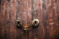 Stary drzwi zakończenie up Obraz Royalty Free