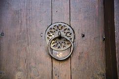 Stary drzwiowego knocker retro szczegół Fotografia Stock