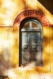 Stary drzwiowy drewniany Zdjęcia Stock