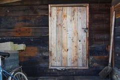 Stary drzwiowy drewniany Zdjęcie Stock