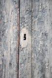 stary drzwiowy keyhole Zdjęcia Stock