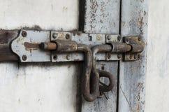 Stary drzwiowy rygiel Obrazy Royalty Free
