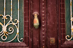 Stary drzwiowy szczegół zdjęcie royalty free