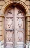 Stary drzwiowy tło, Oxford Zdjęcia Stock