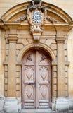 Stary drzwiowy tło, Oxford Zdjęcie Royalty Free