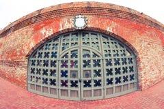 Stary duży drzwi Fotografia Royalty Free