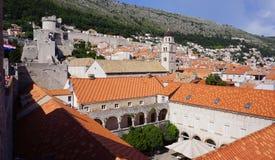 Stary Dubrovnik Od Above zdjęcia royalty free