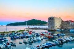 stary Dubrovnik port zdjęcie royalty free