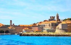 stary Dubrovnik port obraz stock