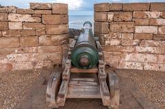 Stary działo przy ramparts Essaouira Obraz Stock
