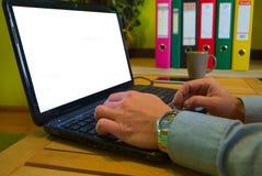 stary działanie laptopa Zdjęcia Stock