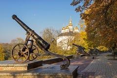 Stary działo w Chernihiv Obrazy Stock