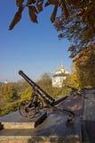 Stary działo w Chernihiv Obrazy Royalty Free