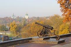 Stary działo w Chernihiv Fotografia Royalty Free