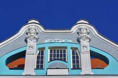 Stary dziejowy budynku szczegół 3 obrazy stock