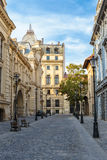 Stary dziejowy centrum Bucharest, Rumunia Obrazy Royalty Free