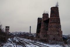 Stary dziejowy wapnia piec w Poldovka, republika czech Zdjęcie Stock