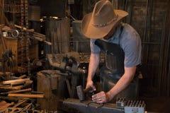 Stary Dziki Zachodni Blacksmith Zdjęcia Stock