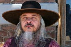 Stary Dziki Zachodni Kowbojski charakter zdjęcia stock