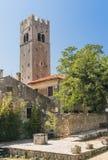 Stary dzwonkowy wierza w Motovun - 2 Obrazy Royalty Free