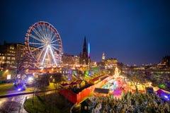 stary Edinburgh miasteczko Zdjęcia Royalty Free