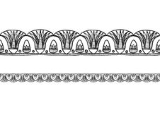 Stary egipcjanin granicy ornament ilustracja wektor