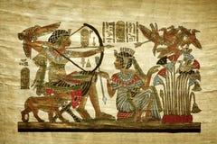 Stary egipski papirus Fotografia Royalty Free