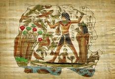 Stary egipski papirus Fotografia Stock