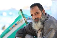 stary egipski rybak Obrazy Royalty Free