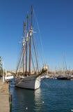 Stary żeglowanie statek w porcie Barcelona Zdjęcia Royalty Free