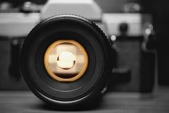 Stary Ekranowy kamery zbliżenie zdjęcie stock