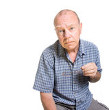 stary ekspresyjny mężczyzna Fotografia Royalty Free