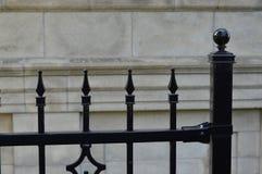 Stary żelaza ogrodzenie, Montreal Zdjęcie Royalty Free