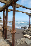 Stary żelazny molo Fotografia Stock