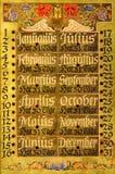 Stary elegancki kalendarz fotografia royalty free