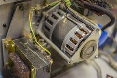 Stary elektrobodziec z trafem i capacitors Zdjęcie Royalty Free