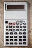 Stary elektroniczny kalkulator Fotografia Stock