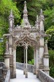 Stary europejczyk Arhitecture w parkowym, Quinta da Regaleira Palac/ Fotografia Stock