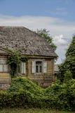 Stary Europejski domu wiejskiego okno Zdjęcie Stock