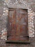 Stary Fabryczny Ładowniczy drzwi Zdjęcie Royalty Free