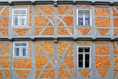Stary Fachwerk dom w Wolfenbuttel. Fotografia Royalty Free