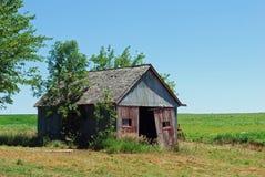 stary farmshed Nebraska Fotografia Royalty Free