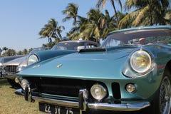 Stary Ferrari przodu uszeregowanie Obrazy Royalty Free