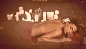 Stary fhoto skutek masaż dla zmęczonego ciała fotografia royalty free