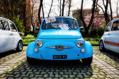 Stary Fiat 500 Abarth Obrazy Stock